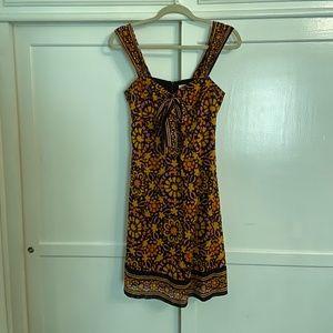 Trina Turk Retro Brown & Orange Mini Dress Size 6